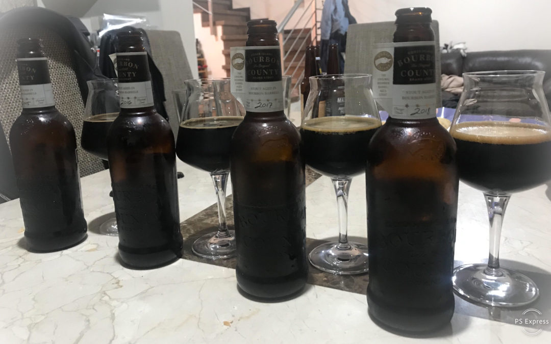 Cata Vertical Goose Island Bourbon County Brand Stout Barrel aged Imperial stout